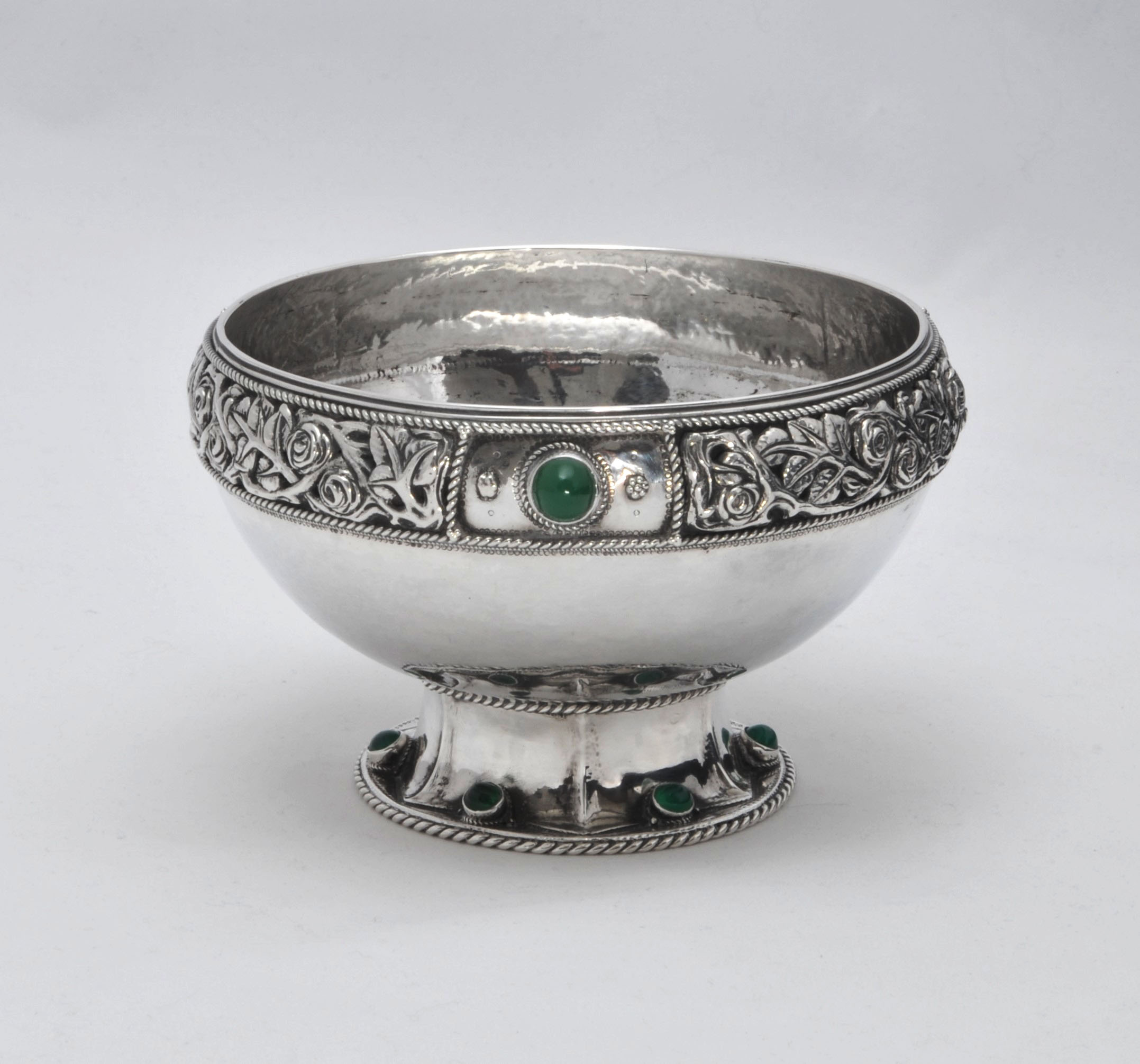 Arts crafts silver Minns Howie bowl