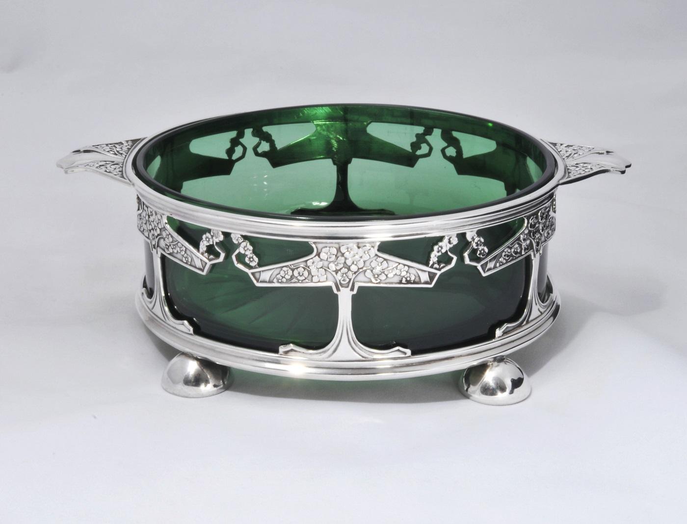 A Kate Harris silver art nouveau bowl