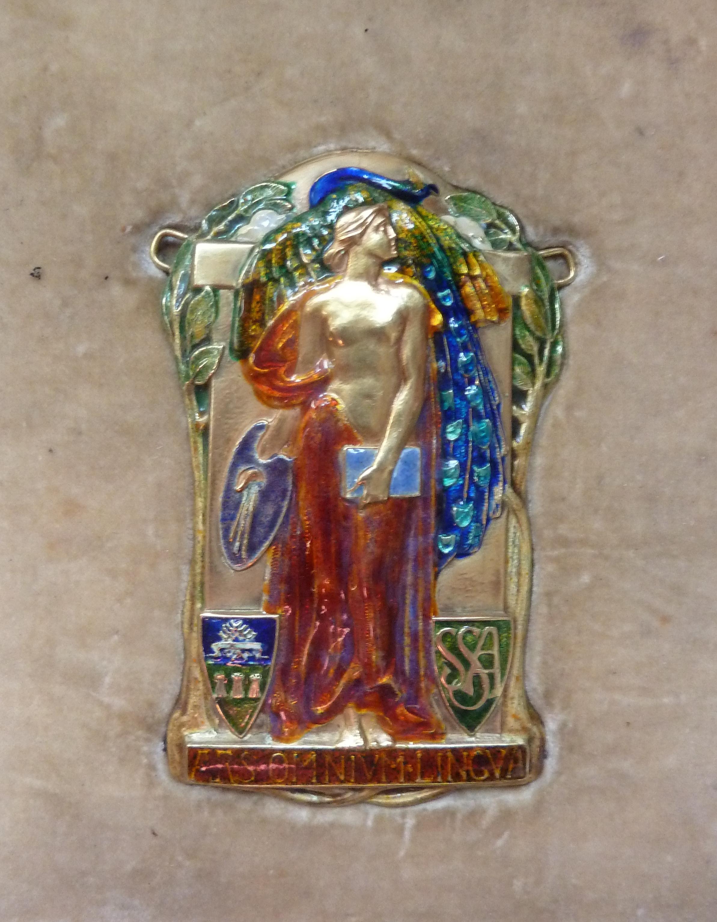 Alexander Fisher enamel pendant