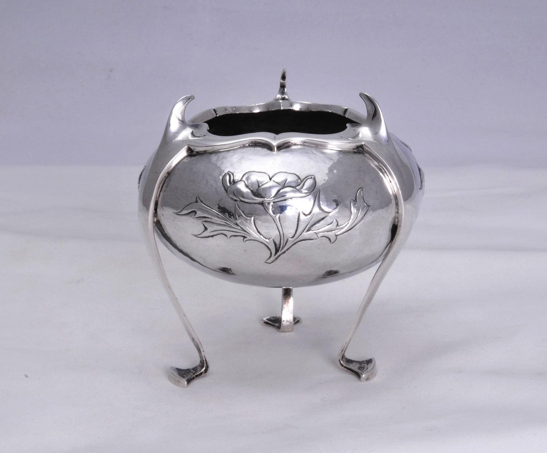 William Comyns art nouveau silver vase