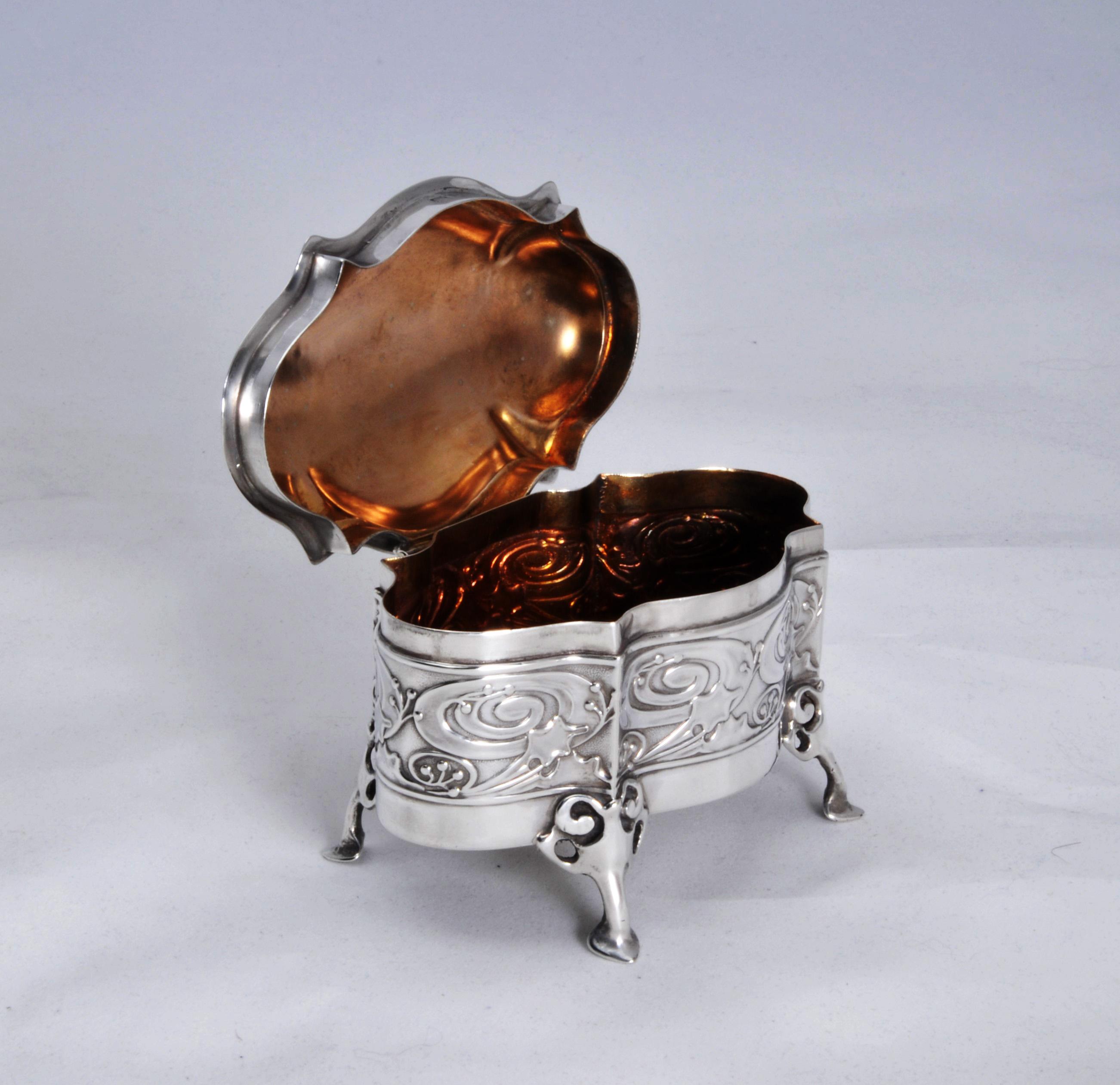 Kate Harris silver art nouveau box