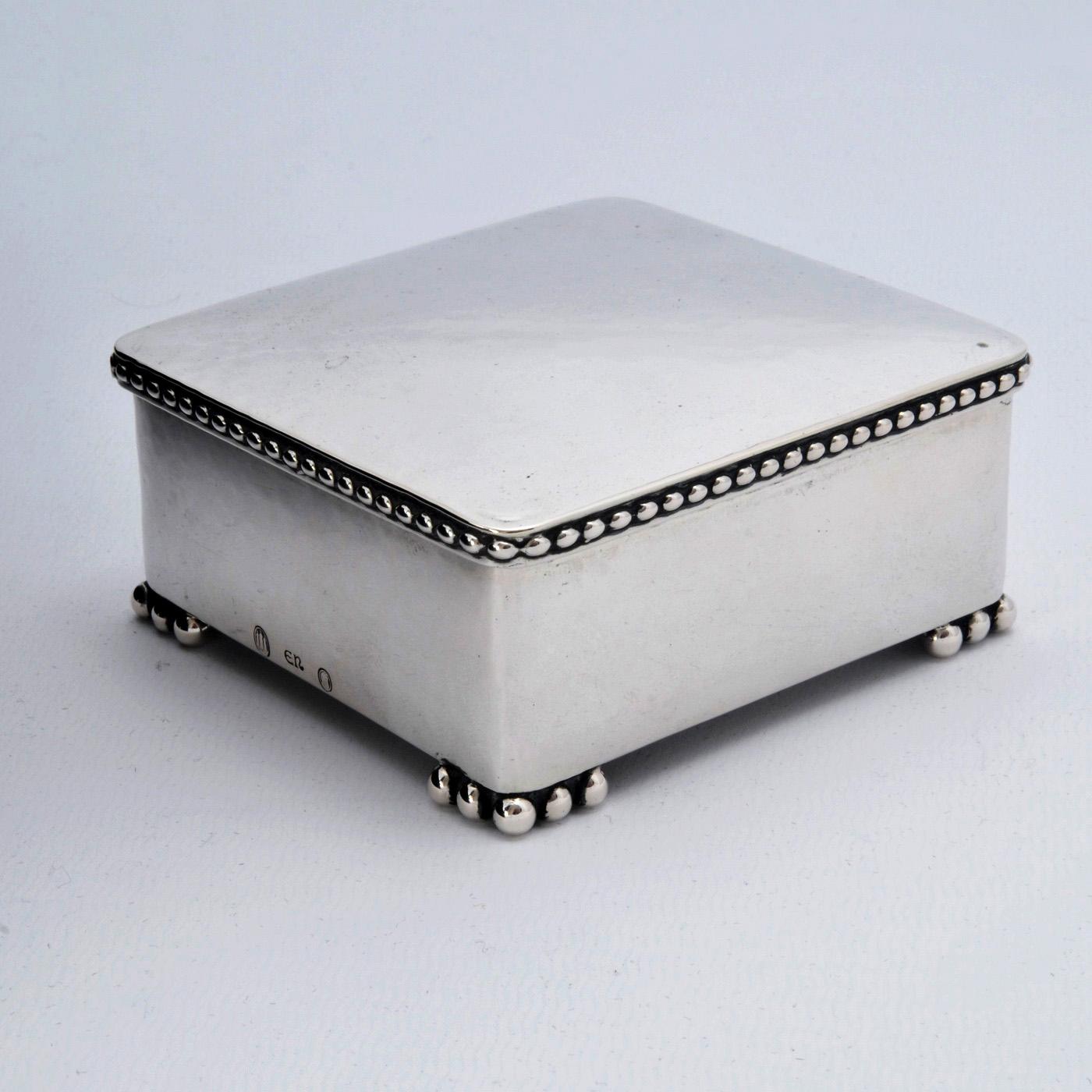 Evald Nielsen silver art deco box