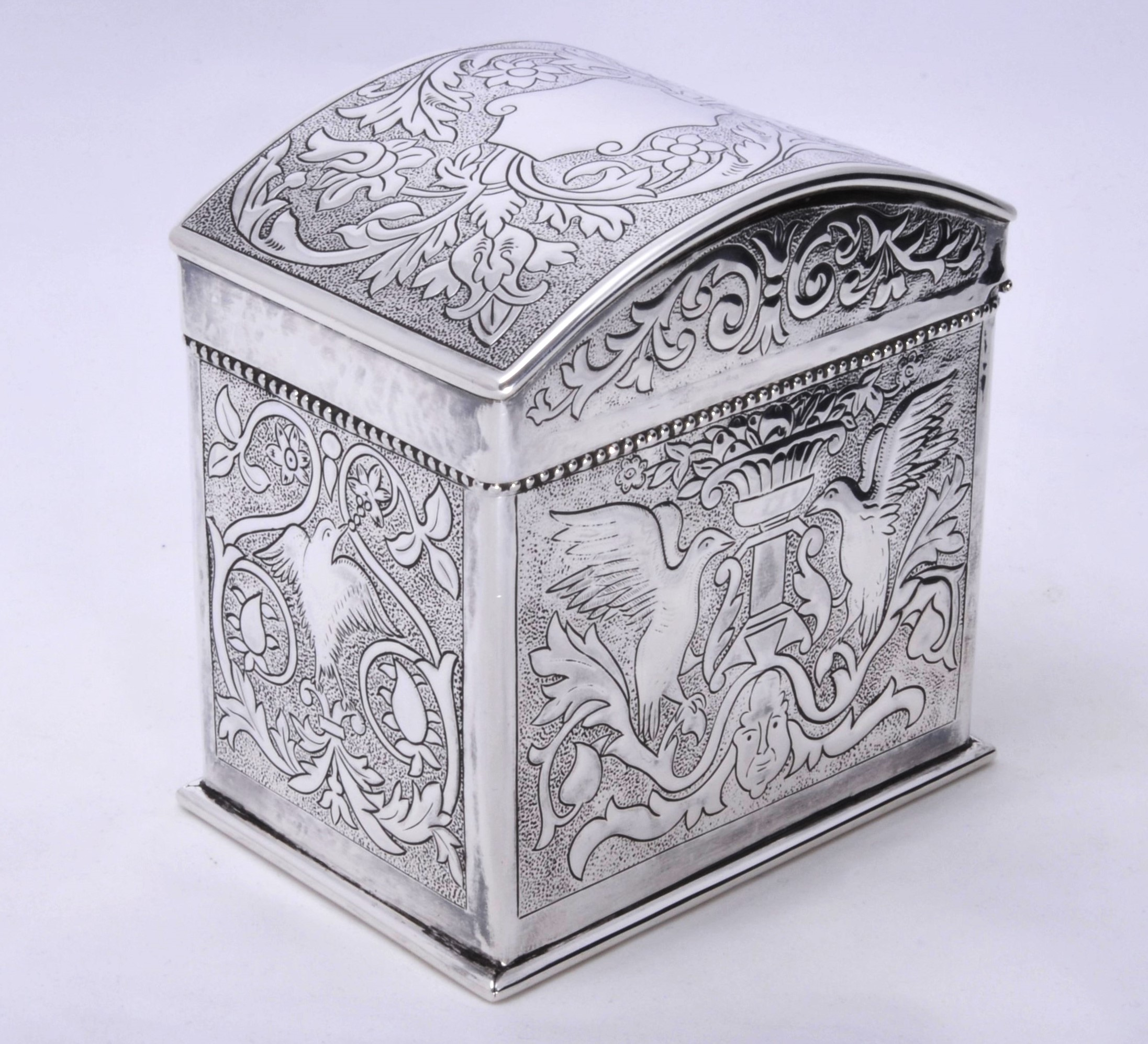 Keswick School of Industrial Arts silver caddy