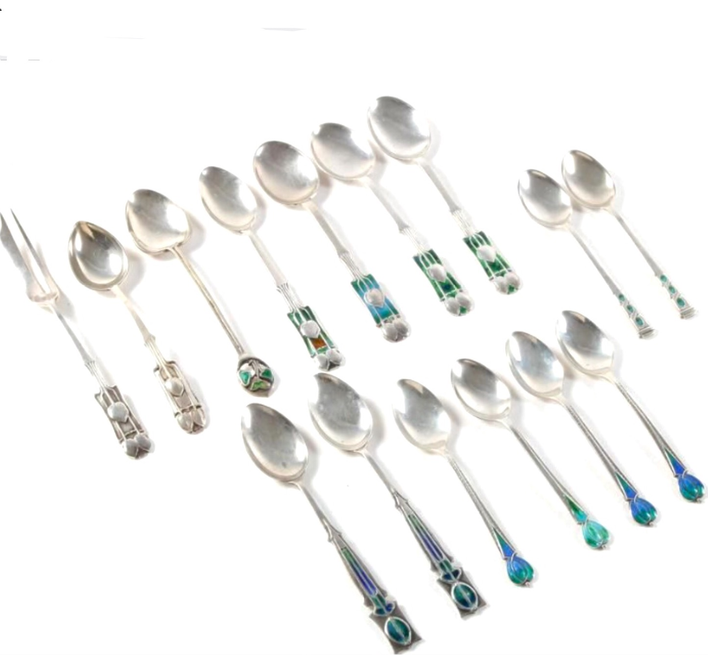 Liberty Cymric spoons by Archibald Knox