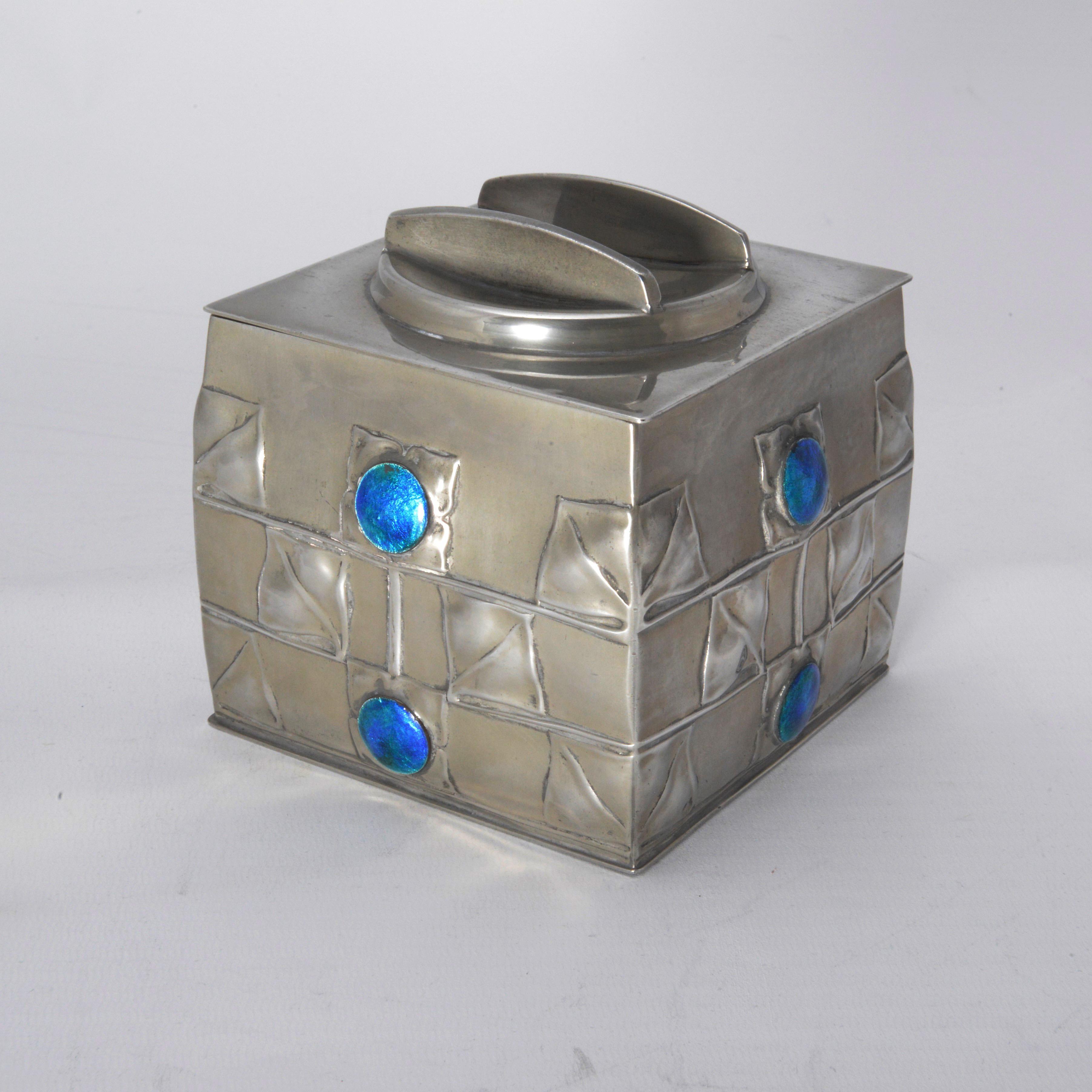 Archibald Knox Tudric biscuit box