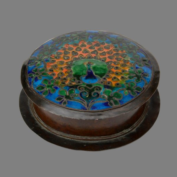 Boston school arts crafts copper enamel box