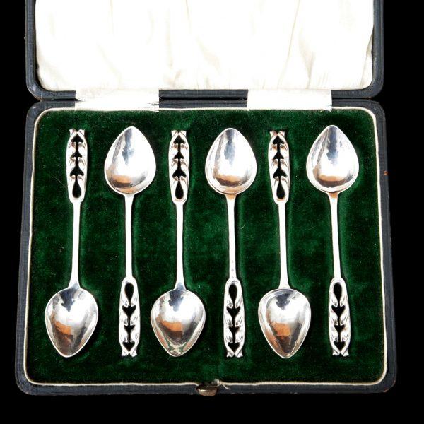 A E Jones silver spoons