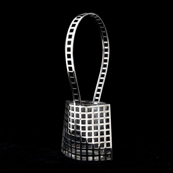 Wiener Werkstatte silver, josef Hoffmann silver basket