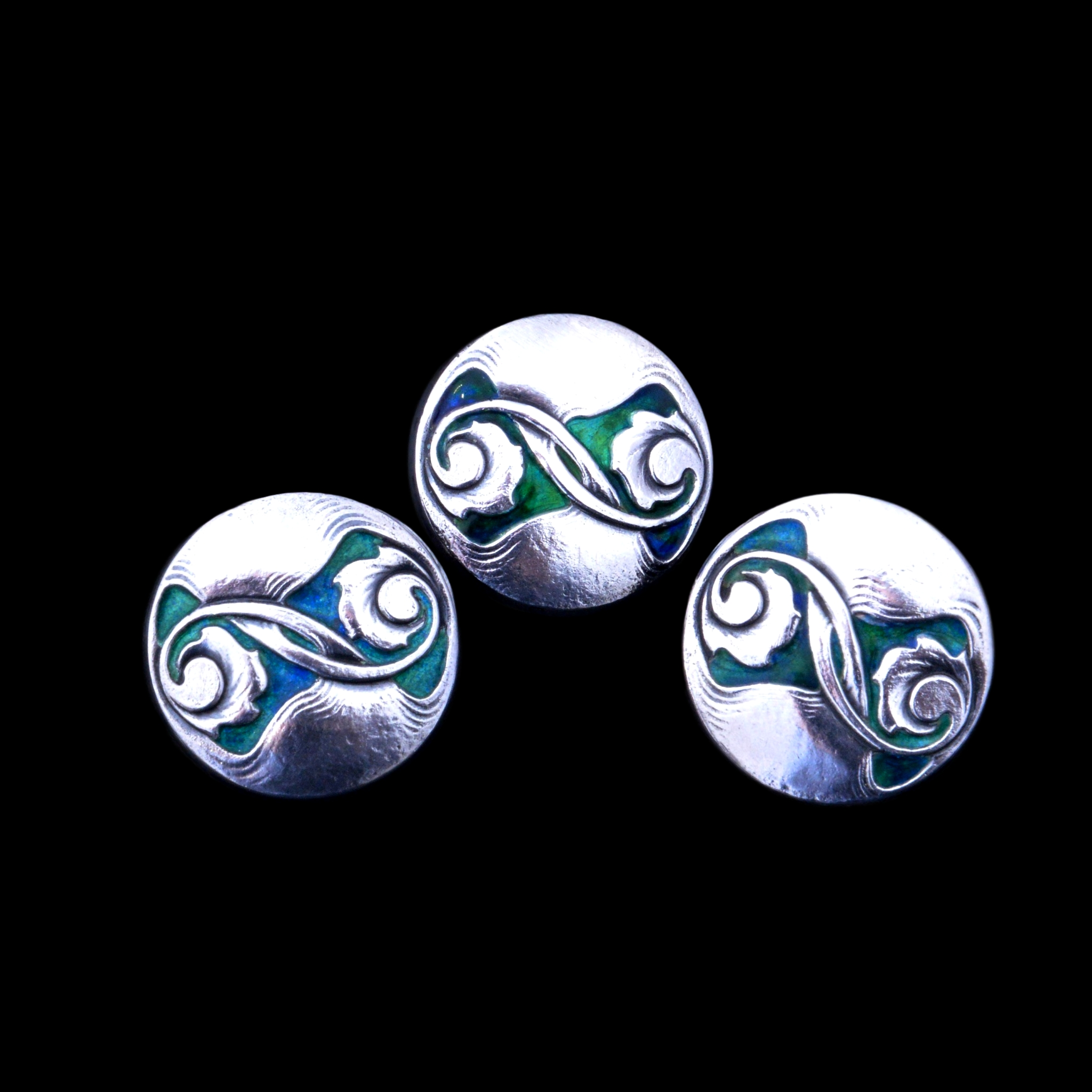 Liberty cymric buttons, Archibald Knox buttons
