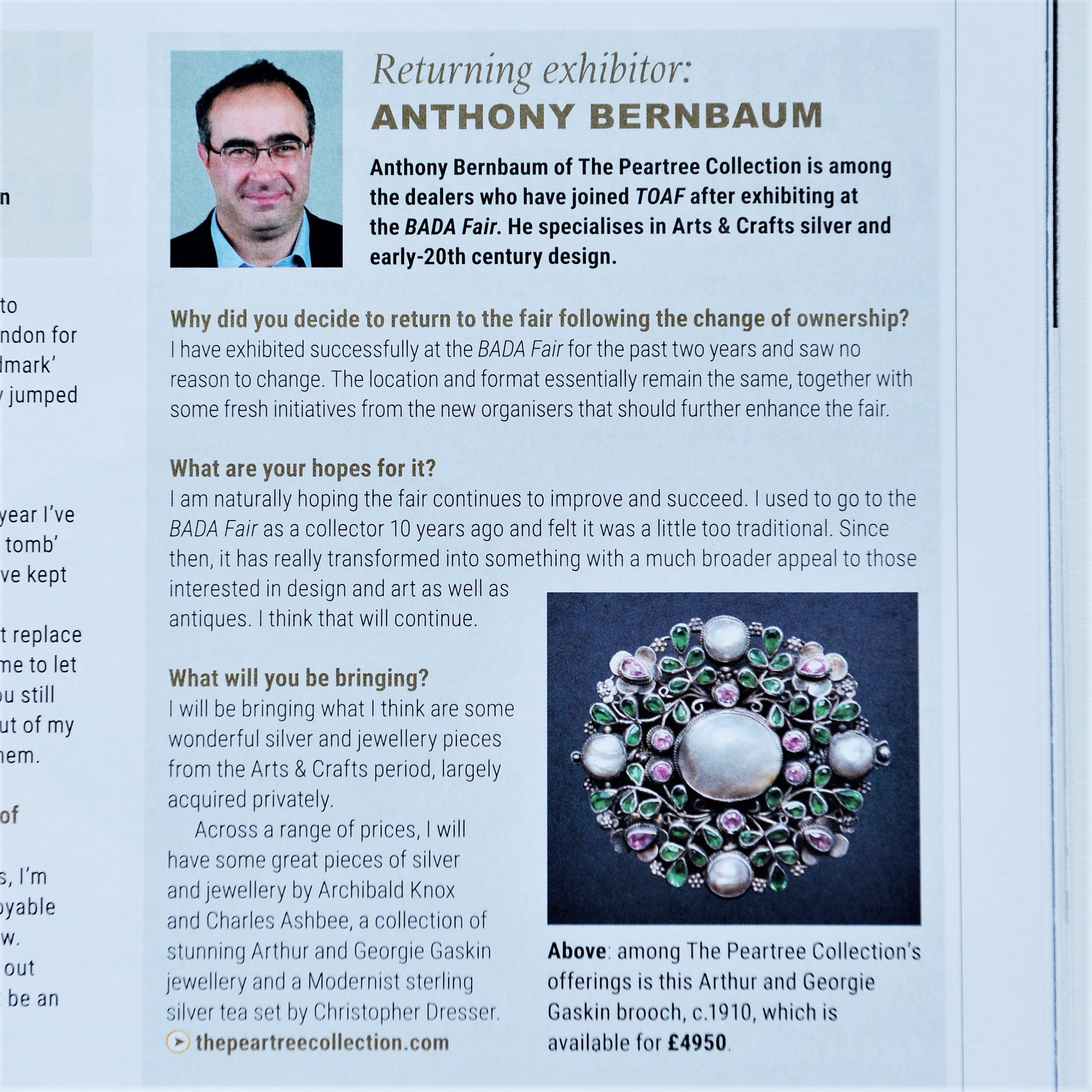 The Peartree Collection featured in today's ATG.