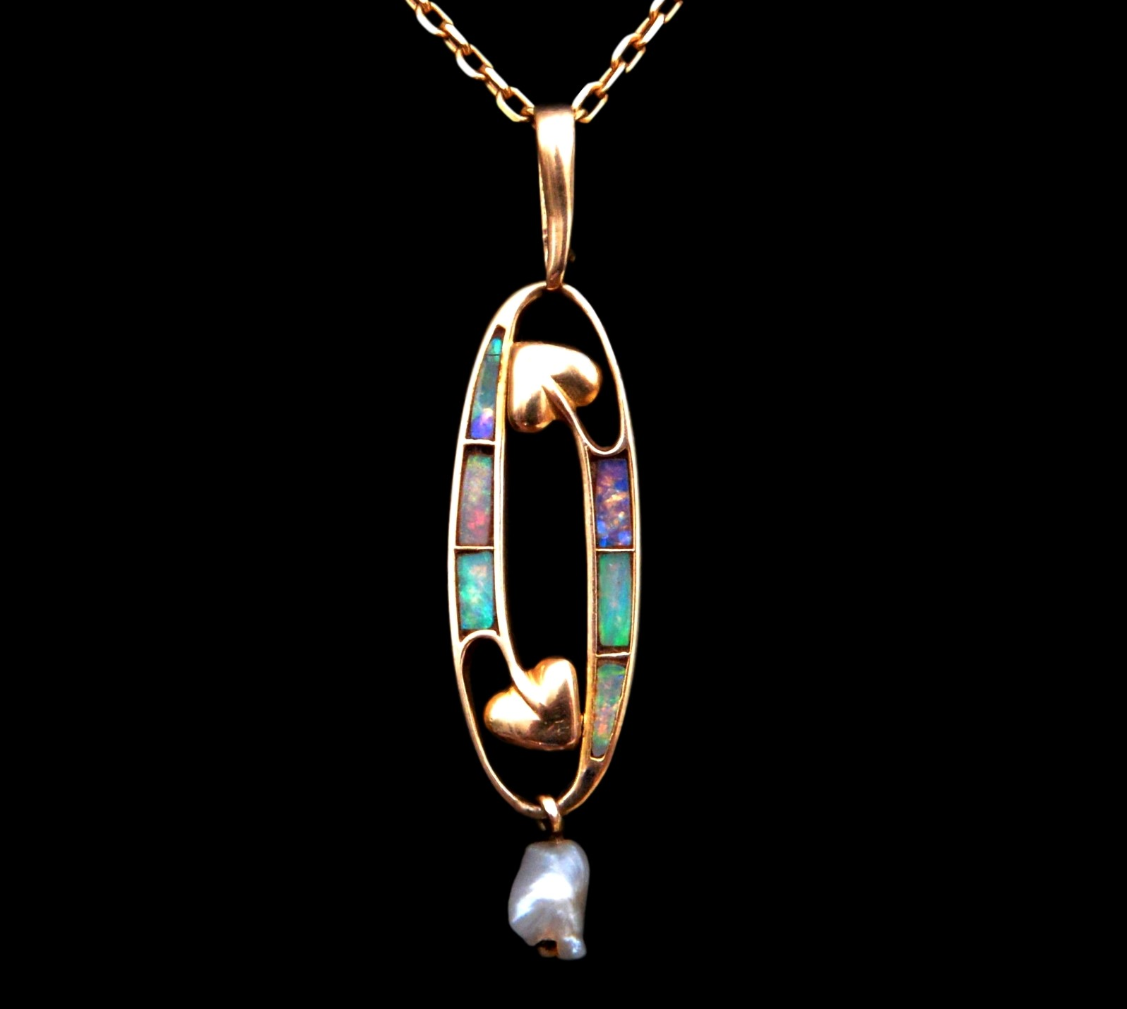 archibald knox jewellery, liberty gold pendant