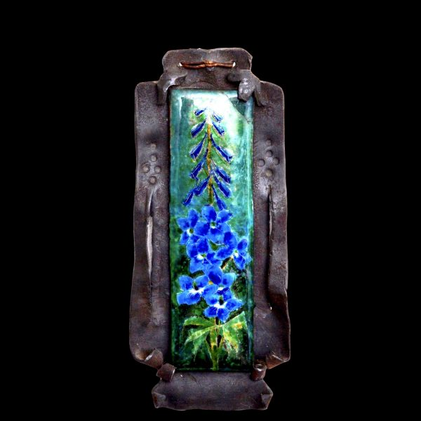 Bromsgrove guild, ernest charles jefferies, arts crafts enamel plaque