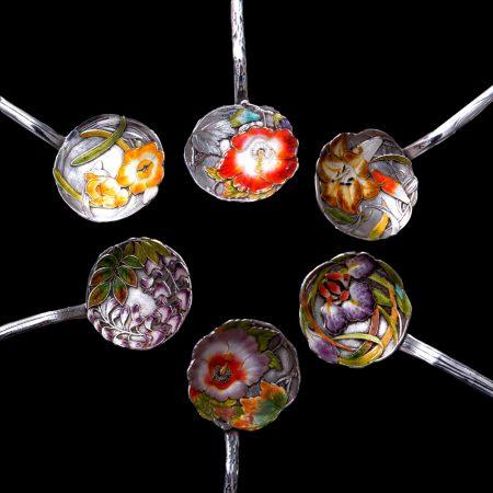 Sanju Saku silver, Meiji spoons
