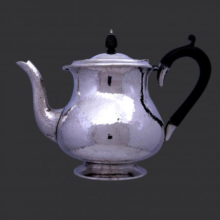 Sibyl Dunlop silver, arts crafts silver teapot