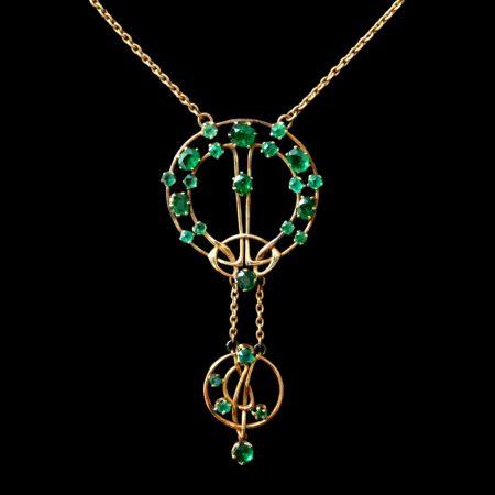 archibald knox jewellery, liberty gold pendant