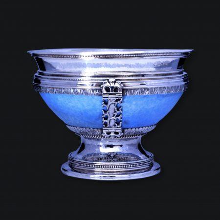 a E Jones silver ruskin, new hall oxford silver celadon