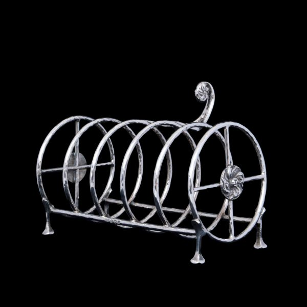 albert edward jones silver, silver crumpet rack