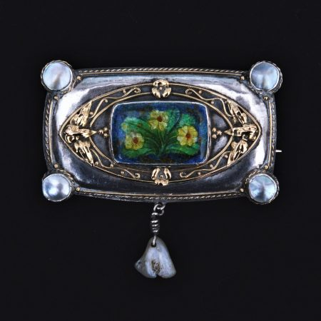 arts and crafts enaeml brooch
