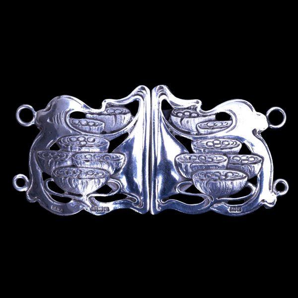 arts crafts silver buckle